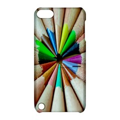 Pen Crayon Color Sharp Red Yellow Apple Ipod Touch 5 Hardshell Case With Stand