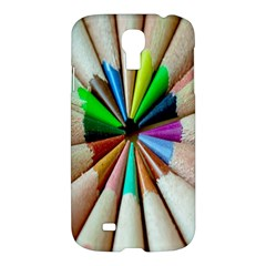 Pen Crayon Color Sharp Red Yellow Samsung Galaxy S4 I9500/i9505 Hardshell Case