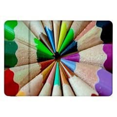 Pen Crayon Color Sharp Red Yellow Samsung Galaxy Tab 8.9  P7300 Flip Case