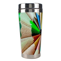 Pen Crayon Color Sharp Red Yellow Stainless Steel Travel Tumblers
