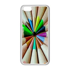 Pen Crayon Color Sharp Red Yellow Apple Iphone 5c Seamless Case (white)