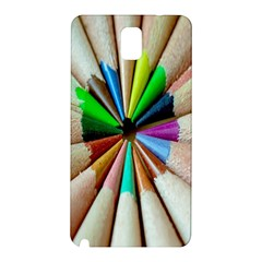 Pen Crayon Color Sharp Red Yellow Samsung Galaxy Note 3 N9005 Hardshell Back Case