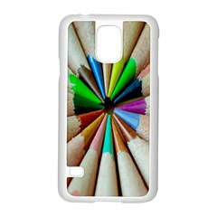 Pen Crayon Color Sharp Red Yellow Samsung Galaxy S5 Case (white)