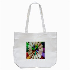 Pen Crayon Color Sharp Red Yellow Tote Bag (white)