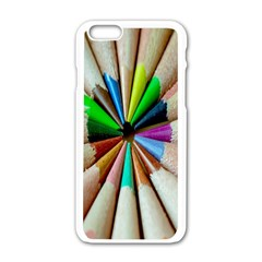Pen Crayon Color Sharp Red Yellow Apple Iphone 6/6s White Enamel Case