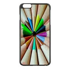 Pen Crayon Color Sharp Red Yellow Apple Iphone 6 Plus/6s Plus Black Enamel Case