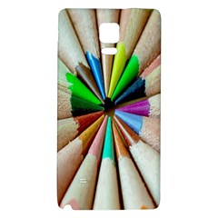 Pen Crayon Color Sharp Red Yellow Galaxy Note 4 Back Case