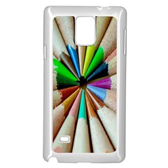 Pen Crayon Color Sharp Red Yellow Samsung Galaxy Note 4 Case (White)