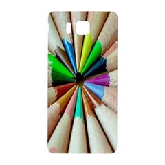 Pen Crayon Color Sharp Red Yellow Samsung Galaxy Alpha Hardshell Back Case