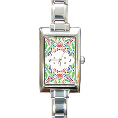 Holiday Festive Background With Space For Writing Rectangle Italian Charm Watch