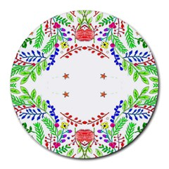 Holiday Festive Background With Space For Writing Round Mousepads