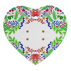 Holiday Festive Background With Space For Writing Ornament (Heart)
