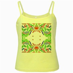 Holiday Festive Background With Space For Writing Yellow Spaghetti Tank