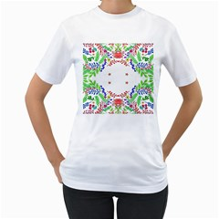Holiday Festive Background With Space For Writing Women s T-Shirt (White) (Two Sided)