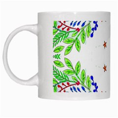 Holiday Festive Background With Space For Writing White Mugs