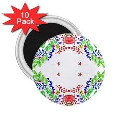 Holiday Festive Background With Space For Writing 2.25  Magnets (10 pack)