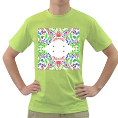 Holiday Festive Background With Space For Writing Green T-Shirt