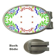 Holiday Festive Background With Space For Writing Money Clips (Oval)