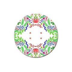 Holiday Festive Background With Space For Writing Magnet 3  (Round)