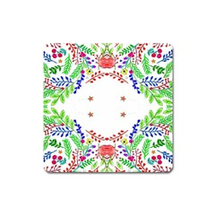 Holiday Festive Background With Space For Writing Square Magnet
