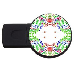 Holiday Festive Background With Space For Writing USB Flash Drive Round (2 GB)