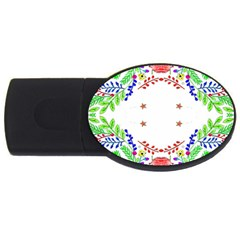 Holiday Festive Background With Space For Writing USB Flash Drive Oval (1 GB)