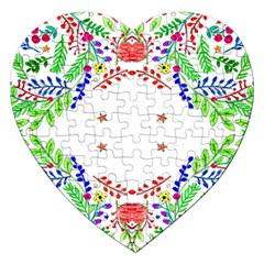 Holiday Festive Background With Space For Writing Jigsaw Puzzle (Heart)