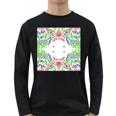 Holiday Festive Background With Space For Writing Long Sleeve Dark T-Shirts