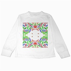 Holiday Festive Background With Space For Writing Kids Long Sleeve T-Shirts