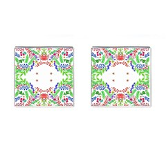 Holiday Festive Background With Space For Writing Cufflinks (Square)