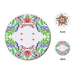 Holiday Festive Background With Space For Writing Playing Cards (Round)