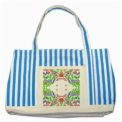 Holiday Festive Background With Space For Writing Striped Blue Tote Bag