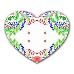Holiday Festive Background With Space For Writing Heart Mousepads