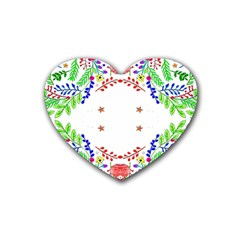Holiday Festive Background With Space For Writing Heart Coaster (4 Pack)