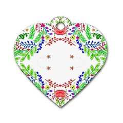 Holiday Festive Background With Space For Writing Dog Tag Heart (Two Sides)