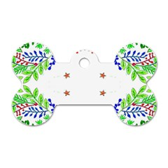 Holiday Festive Background With Space For Writing Dog Tag Bone (Two Sides)
