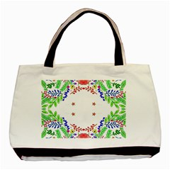 Holiday Festive Background With Space For Writing Basic Tote Bag (two Sides)