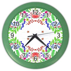 Holiday Festive Background With Space For Writing Color Wall Clocks