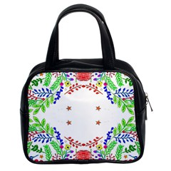 Holiday Festive Background With Space For Writing Classic Handbags (2 Sides)