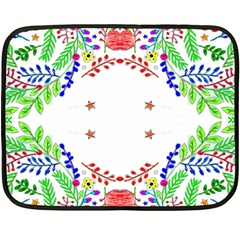 Holiday Festive Background With Space For Writing Double Sided Fleece Blanket (Mini)