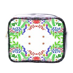 Holiday Festive Background With Space For Writing Mini Toiletries Bags