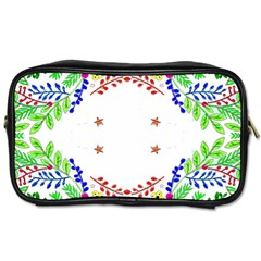 Holiday Festive Background With Space For Writing Toiletries Bags 2 Side