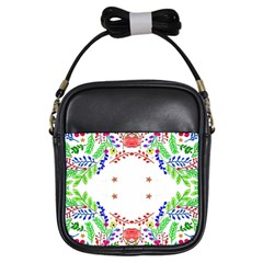 Holiday Festive Background With Space For Writing Girls Sling Bags