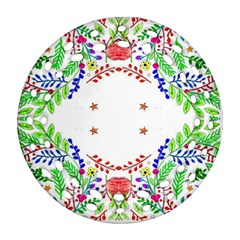 Holiday Festive Background With Space For Writing Round Filigree Ornament (Two Sides)