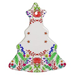 Holiday Festive Background With Space For Writing Christmas Tree Ornament (Two Sides)