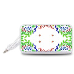 Holiday Festive Background With Space For Writing Portable Speaker (white)