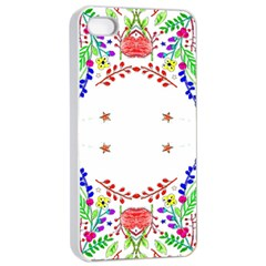 Holiday Festive Background With Space For Writing Apple Iphone 4/4s Seamless Case (white)
