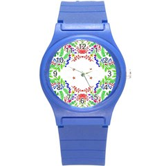 Holiday Festive Background With Space For Writing Round Plastic Sport Watch (s)