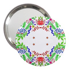 Holiday Festive Background With Space For Writing 3  Handbag Mirrors