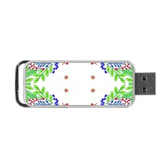 Holiday Festive Background With Space For Writing Portable Usb Flash (two Sides)